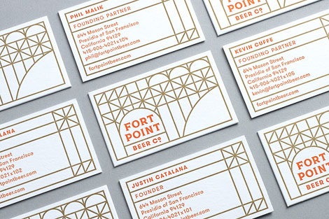 Fort Point Beer Business Cards
