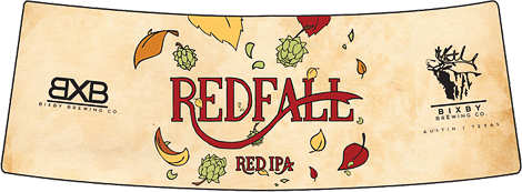 Redfall Red IPA Homebrew Labels