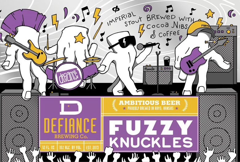 Defiance Fuzzy Knuckles Label