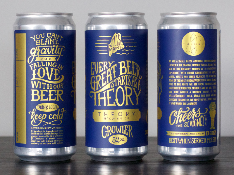 Theory Brewing Co Crowlers Oh Beautiful Beer