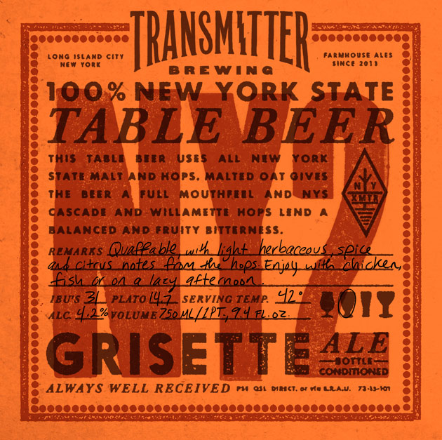 Transmitter Brewing NY2