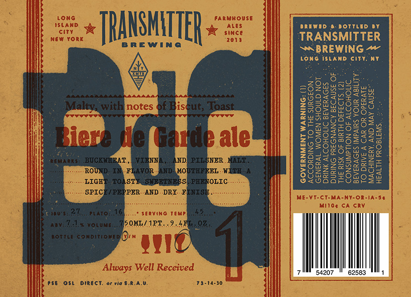 Transmitter Brewing BdG