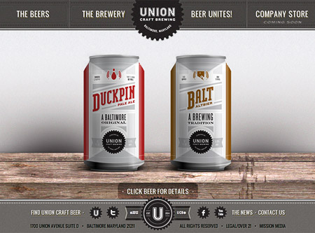 Union Craft Brewing Website Oh Beautiful Beer